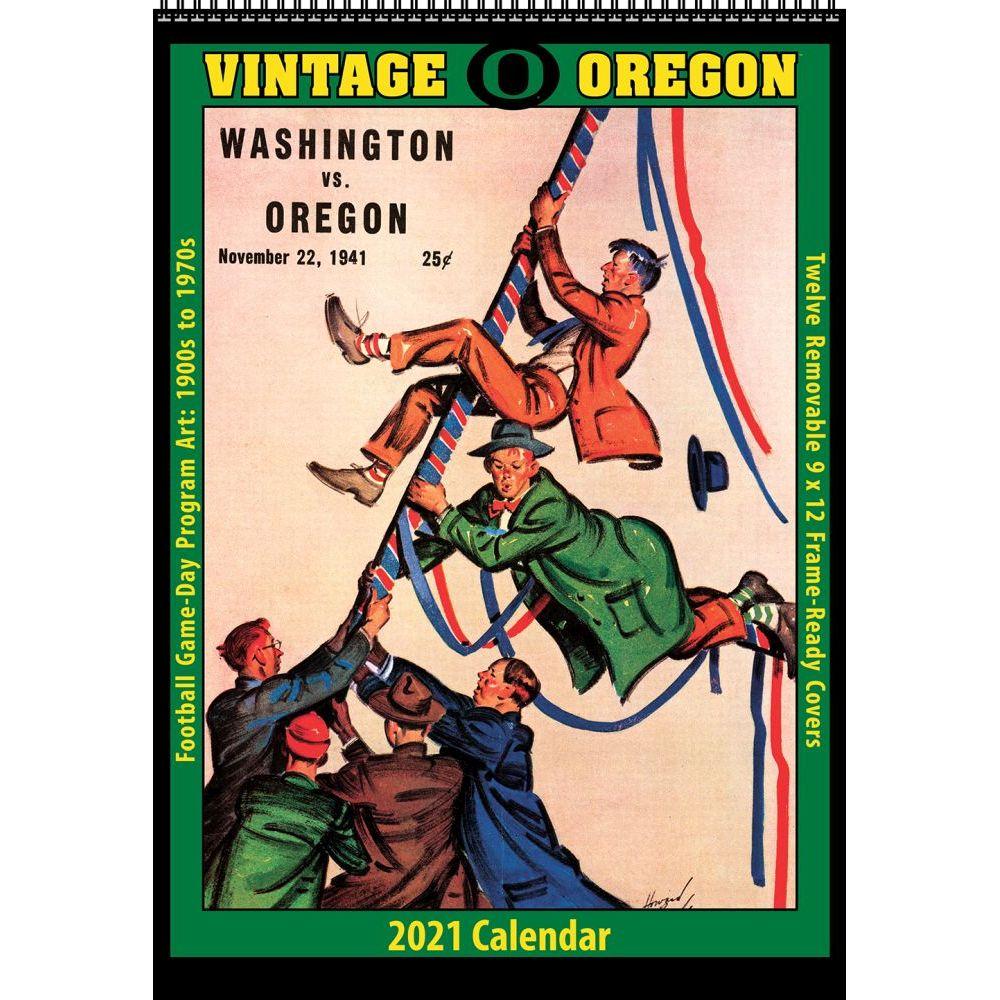 University of Oregon Duck 2021 Wall Calendar