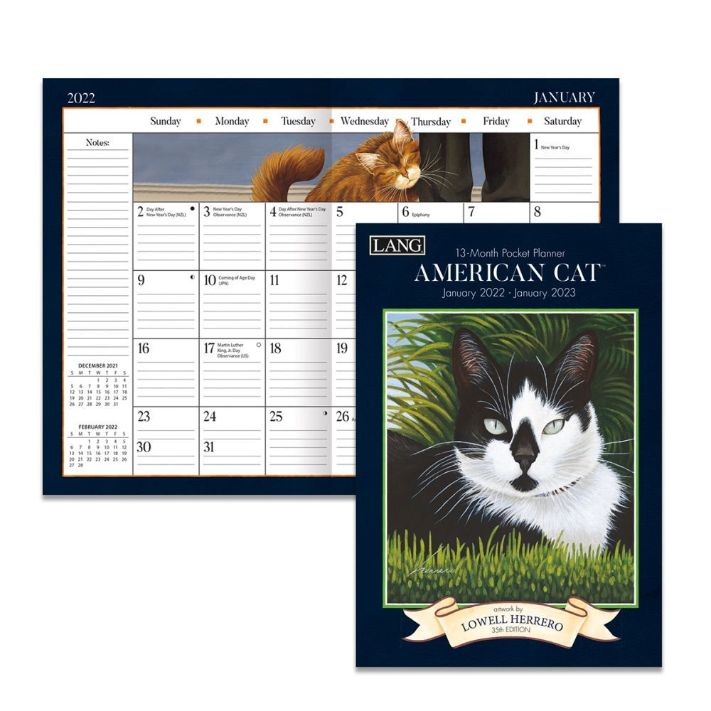 American Cat 2022 Monthly Planner