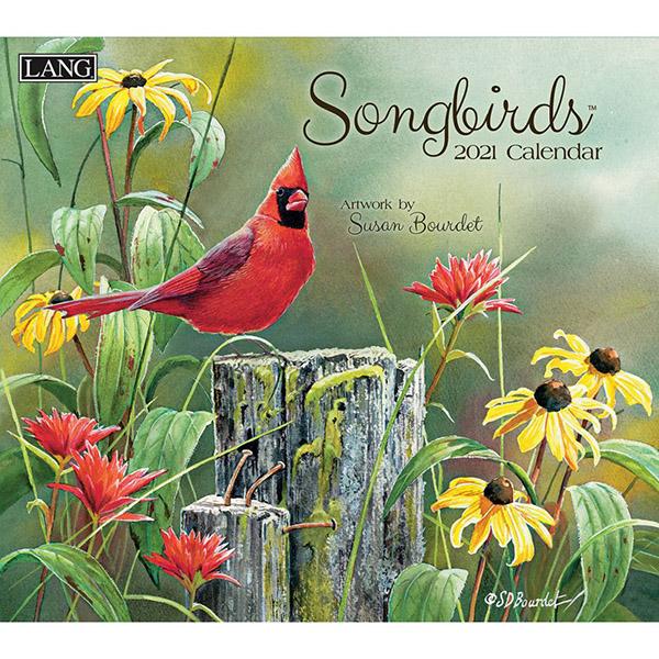 2021 Songbirds Wall Calendar by Susan Bourdet