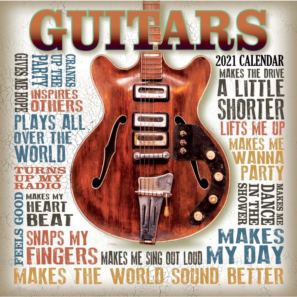 2021 Guitars Mini Wall Calendar SV