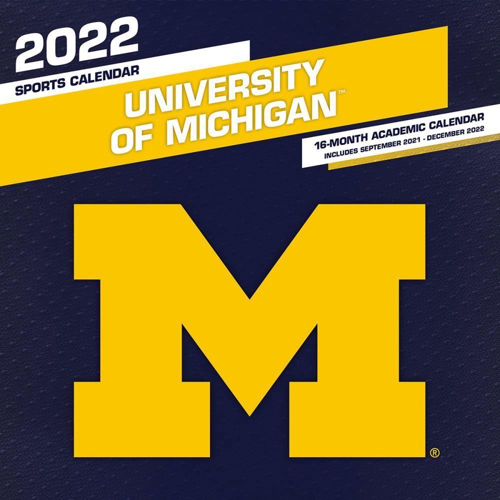 University Of Michigan Calendar 2022.Col Michigan Wolverines 2022 Mini Wall Calendar Calendars Com