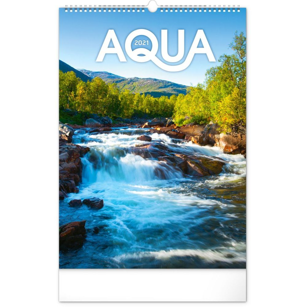 2021 Aqua Waterscape Poster Wall Calendar