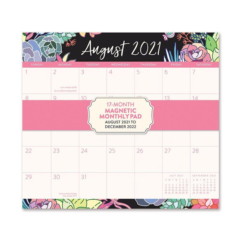 Succulent 2022 Magnetic Wall Calendar