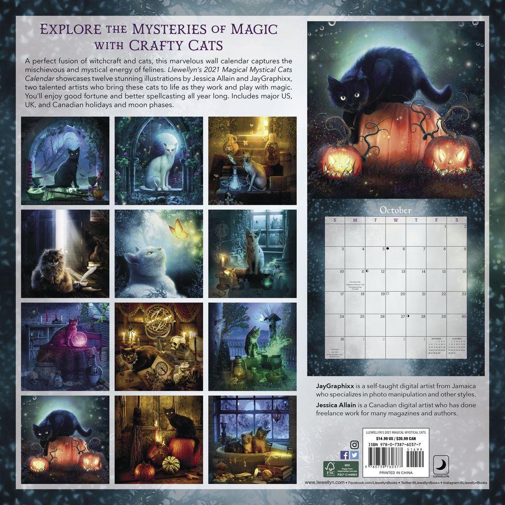 Magical Mystical Cats Wall Calendar - Calendars.com