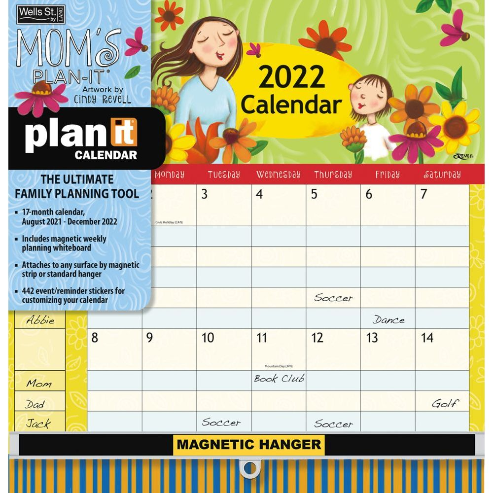 Mom's Plan-It Plus 2022 Wall Calendar