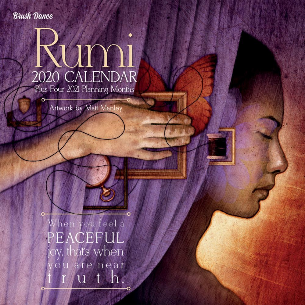 Longing For The Divine Calendar 2021 Poetry of Rumi Wall Calendar   Calendars.com