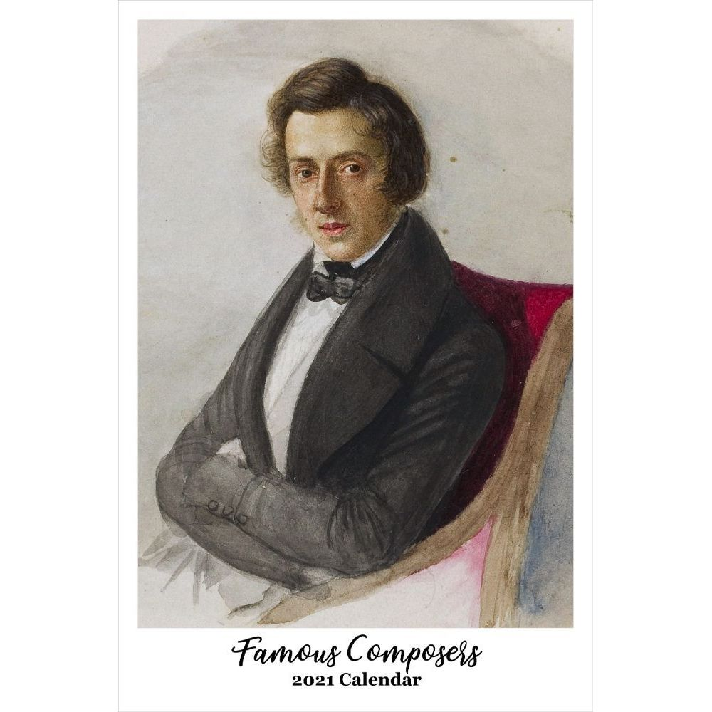 Famous Composers 2021 Poster Wall Calendar