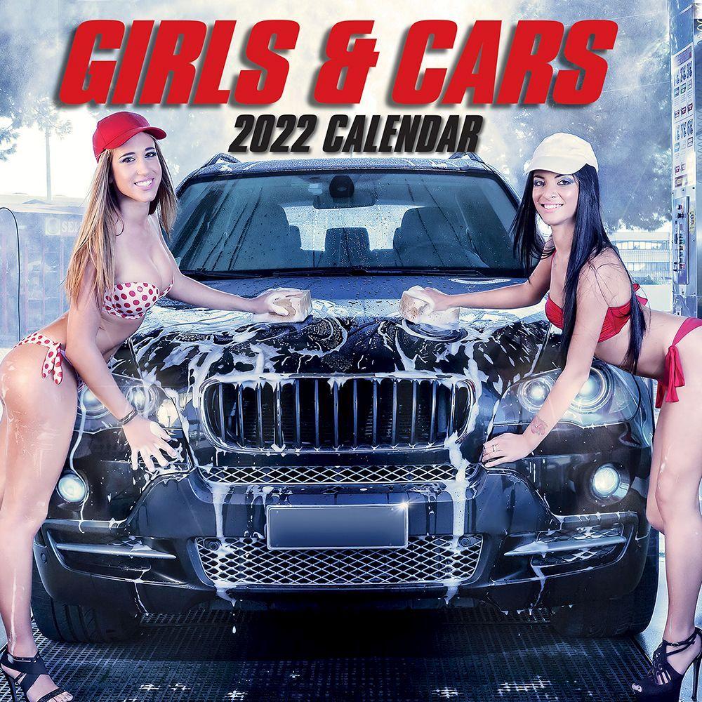 Girls and Cars 2022 Wall Calendar
