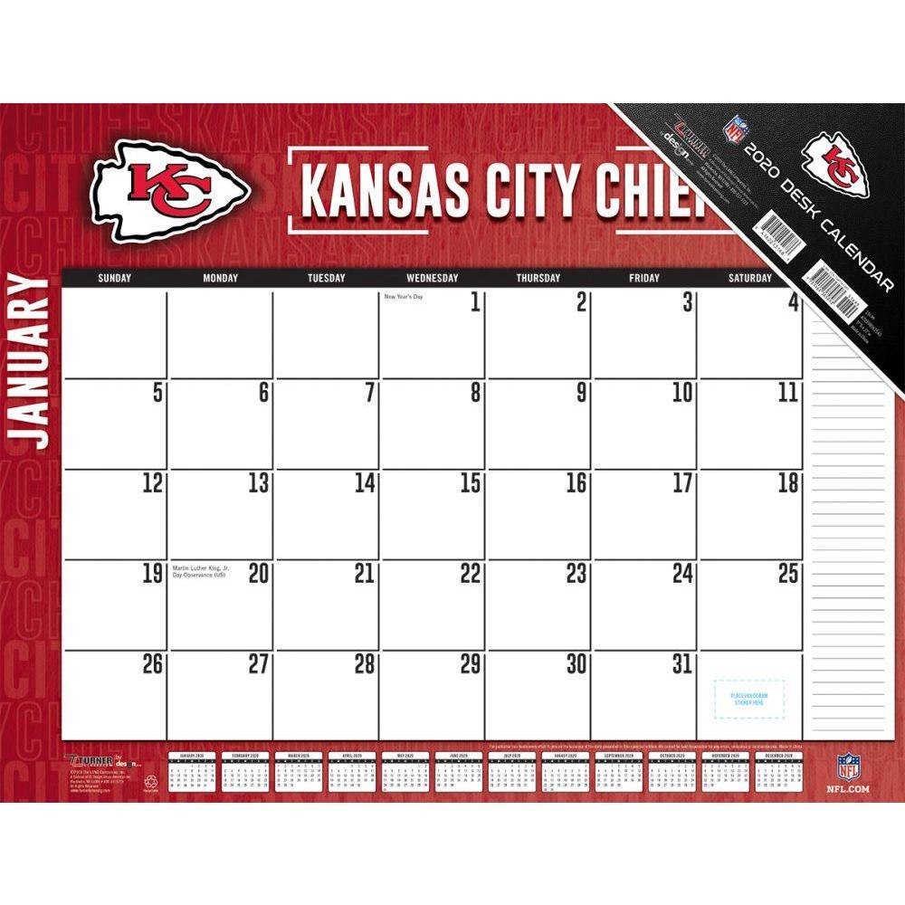 Kansas City Chiefs 2021 Desk Pad
