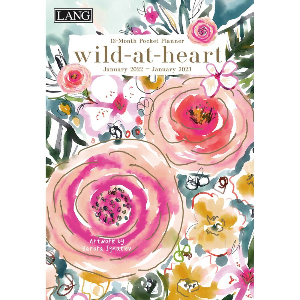 Wild At Heart 2022 Monthly Pocket Planner