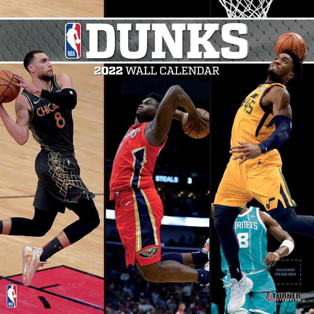 NBA Dunks 2022 Wall Calendar