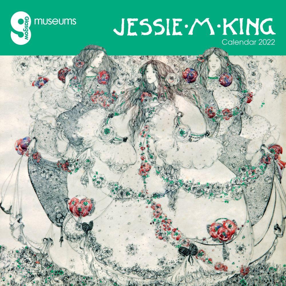 Glasgow Museums Jessie M. King 2022 Wall Calendar