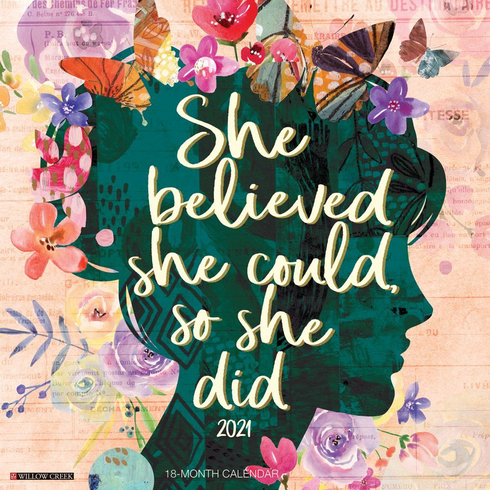2021 She Believed She Could So She Did Wall Calendar