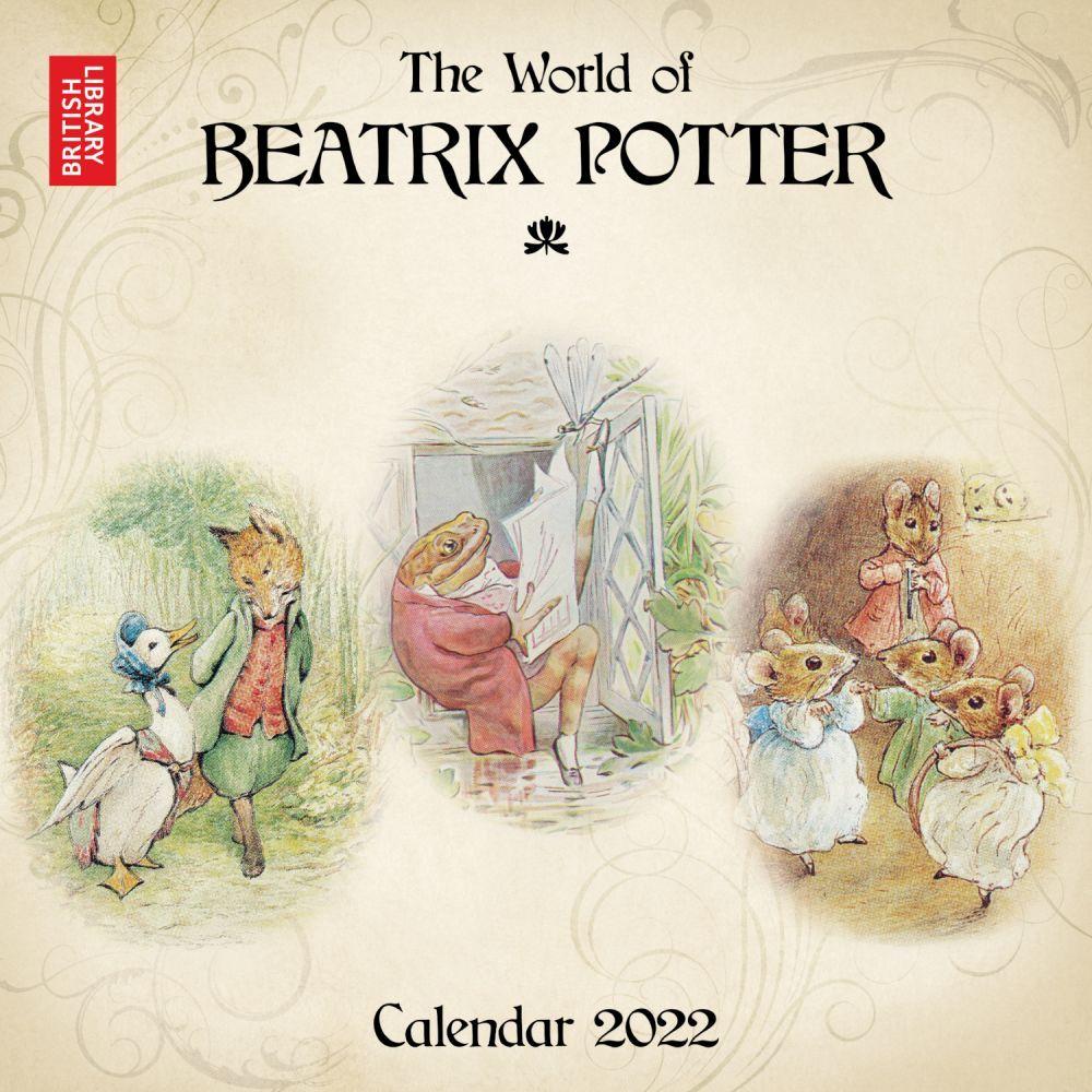 British Library Beatrix Potter 2022 Wall Calendar