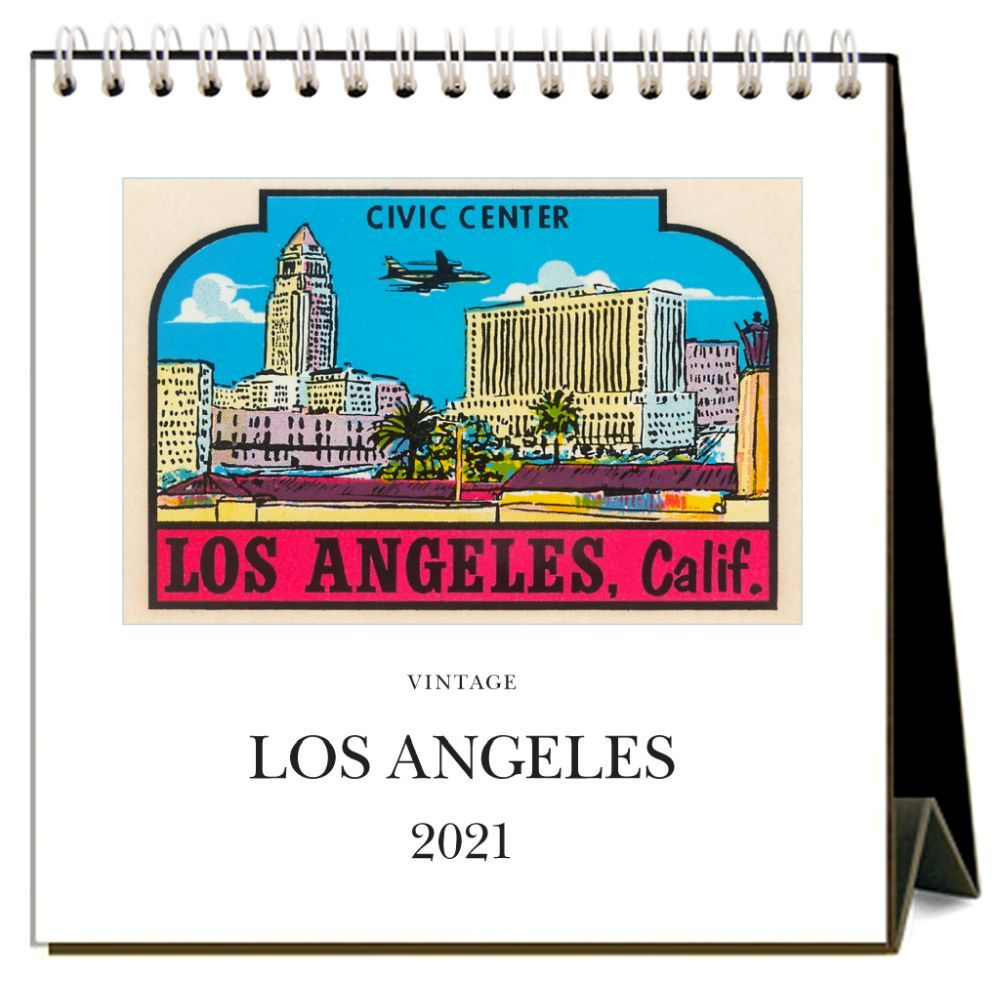2021 Los Angeles Nostalgic Easel Calendar