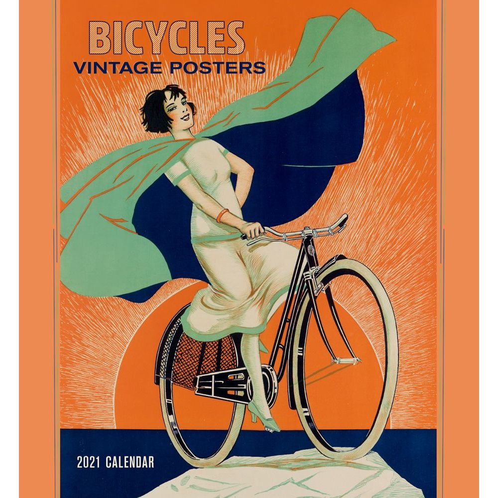 2021 Bicycles Vintage Posters Wall Calendar