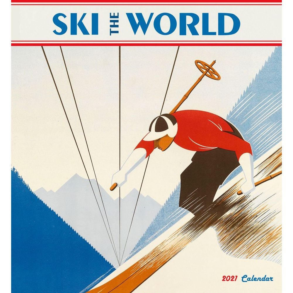 2021 Ski the World Wall Calendar