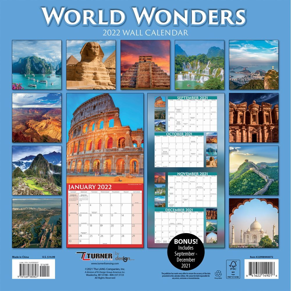 World Wonders 2022 Wall Calendar