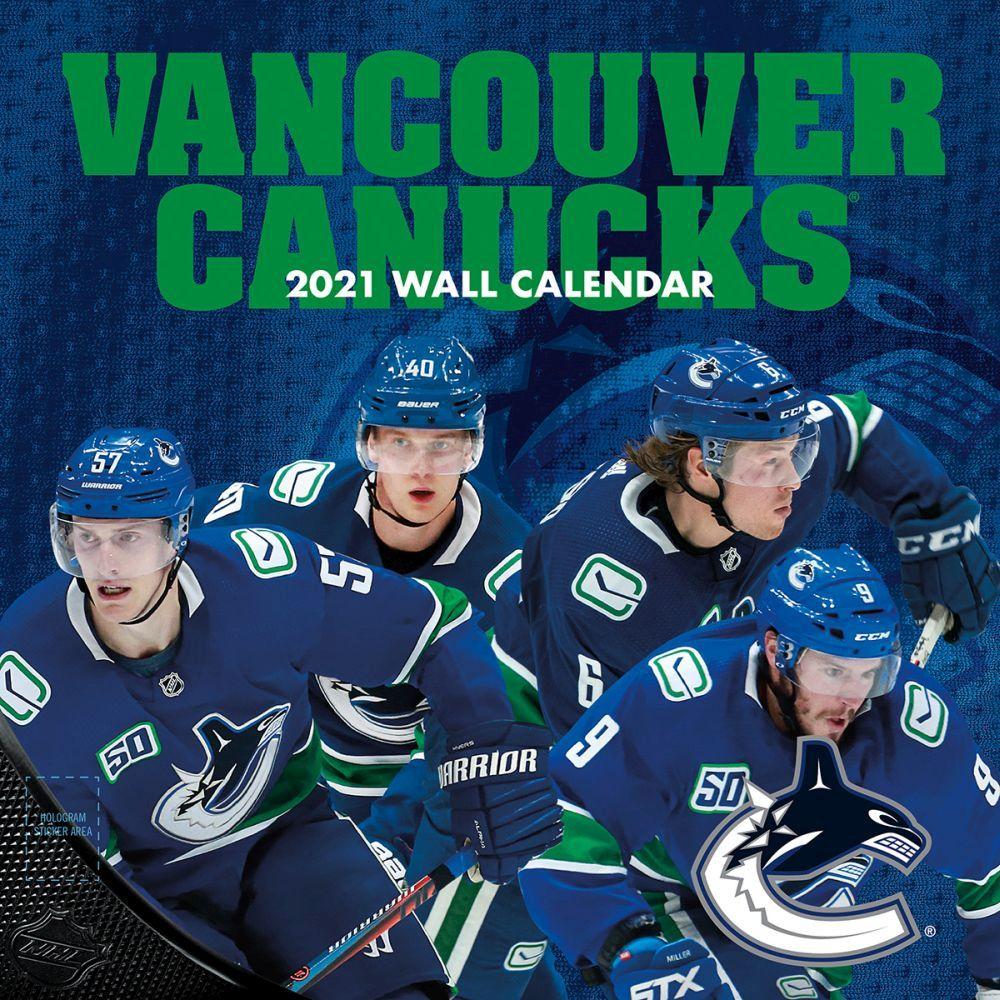 Vancouver Canucks Team 2021 Wall Calendar