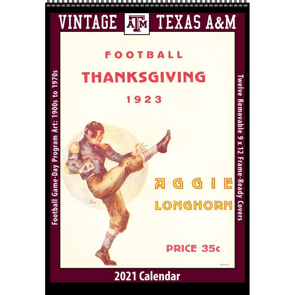 Vintage Texas A&M Football 2021 Wall Calendar