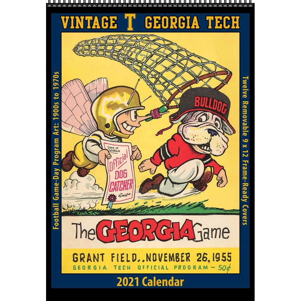 Georgia Tech Vintage Football 2021 Wall Calendar