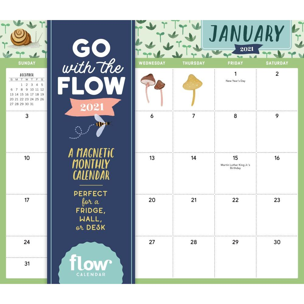 2021 Go With the Flow A Mindful Life Magnetic Calendar