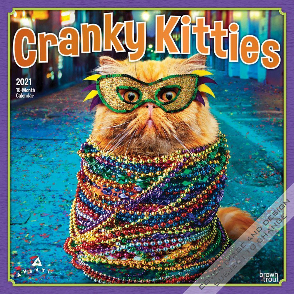 Avanti Cranky Kitties 2021 Wall Calendar