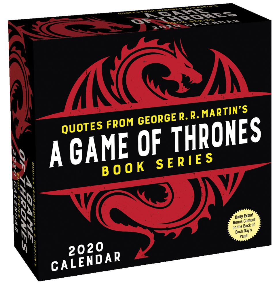 Quotes from Game of Thrones 2021 Desk Calendar