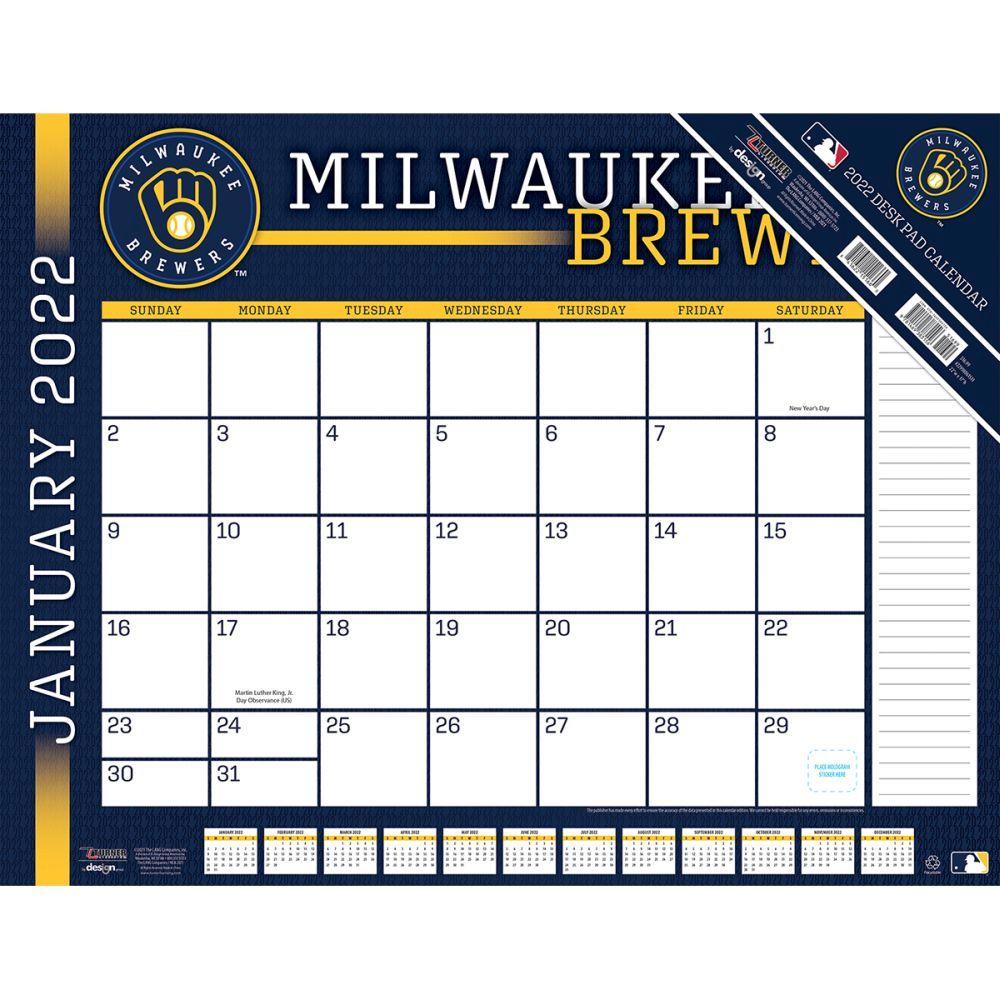 Milwaukee Brewers 2022 Desk Pad