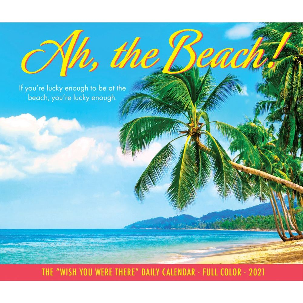 2021 Ah, The Beach Desk Calendar