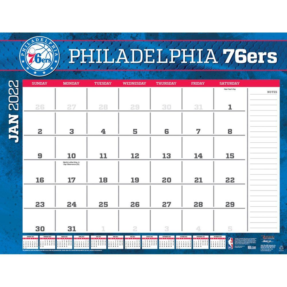 Philadelphia 76ers 2022 Desk Pad