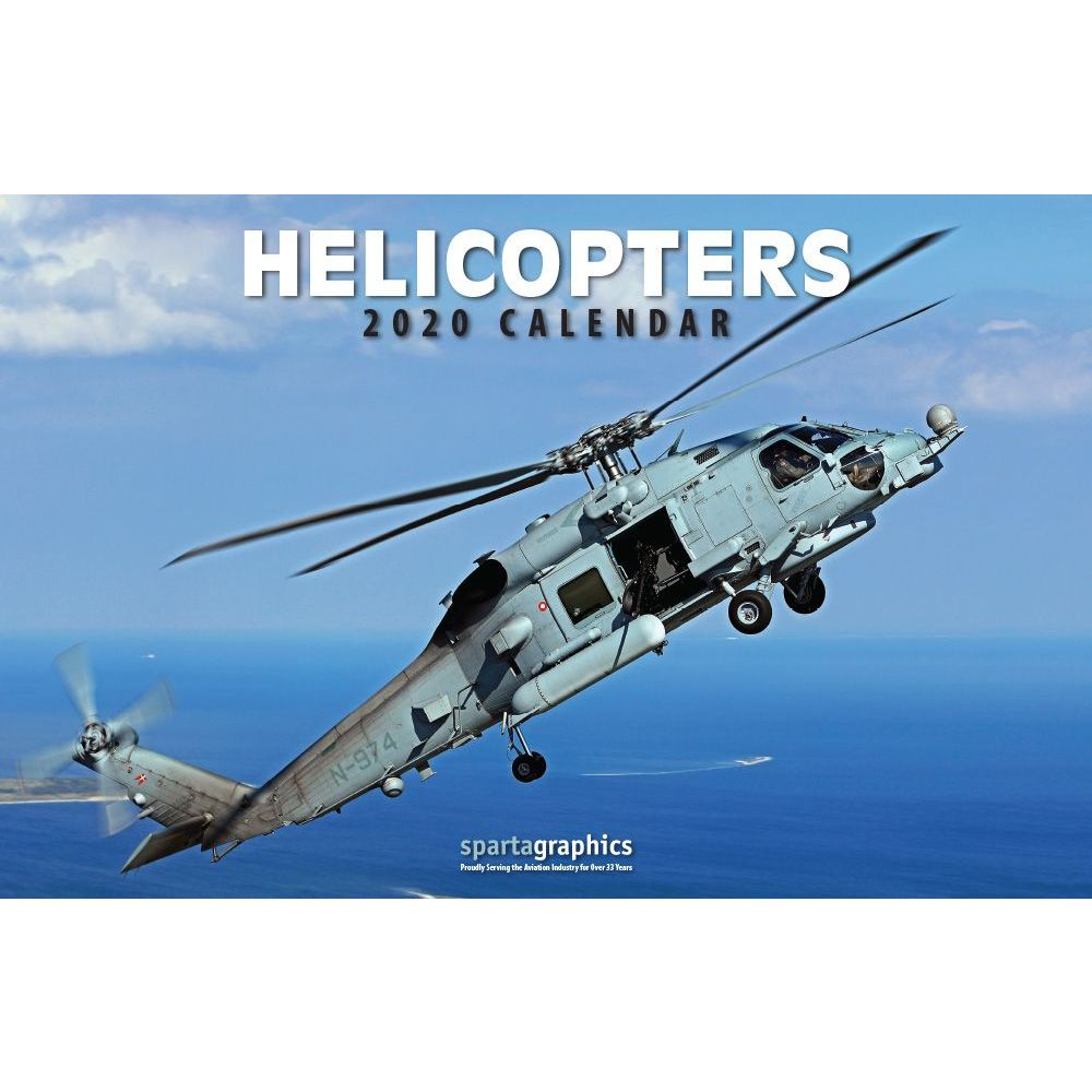 2021 Helicopters Deluxe Wall Calendar