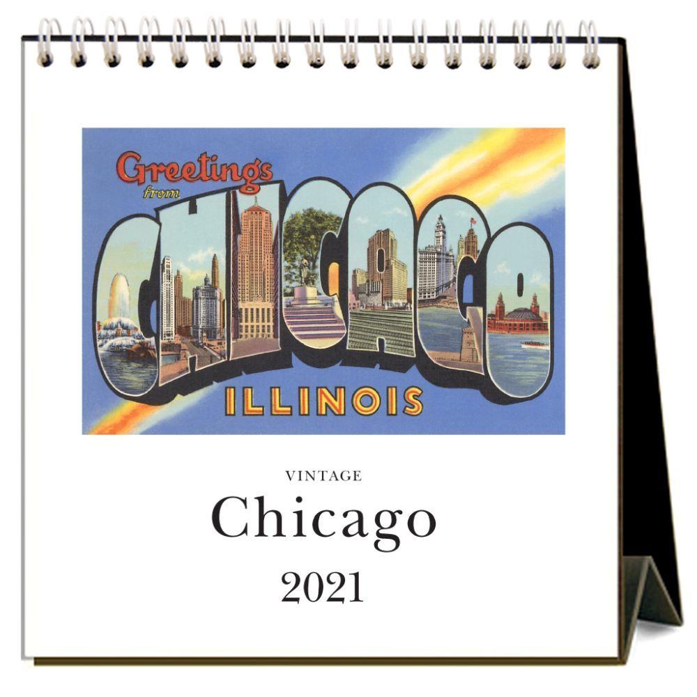 2021 Chicago Nostalgic Easel Calendar