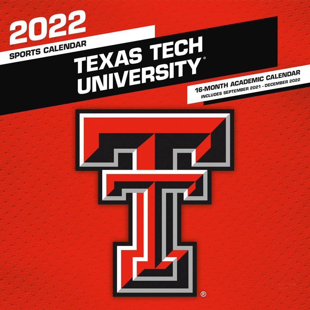 Texas Tech University Red Raiders 2022 Wall Calendar