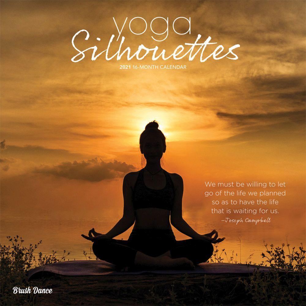 2021 Yoga Silhouettes Wall Calendar