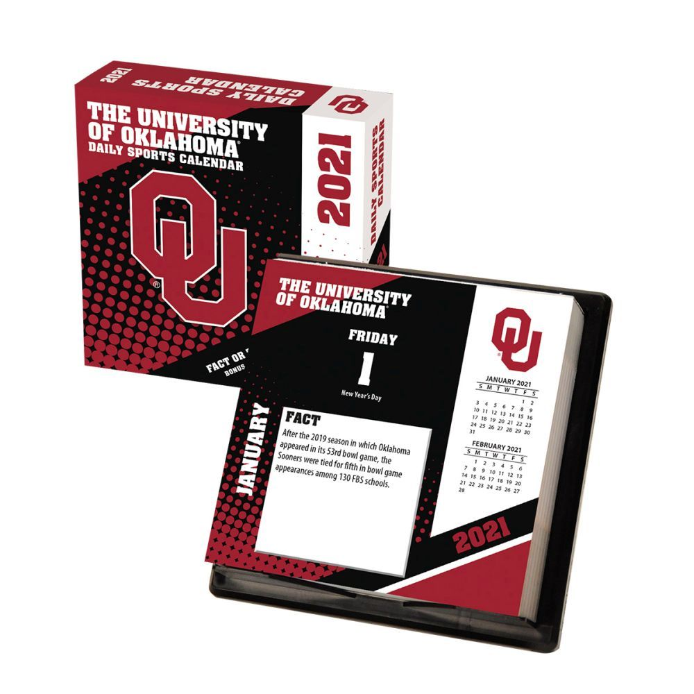2021 Oklahoma Sooners Desk Calendar