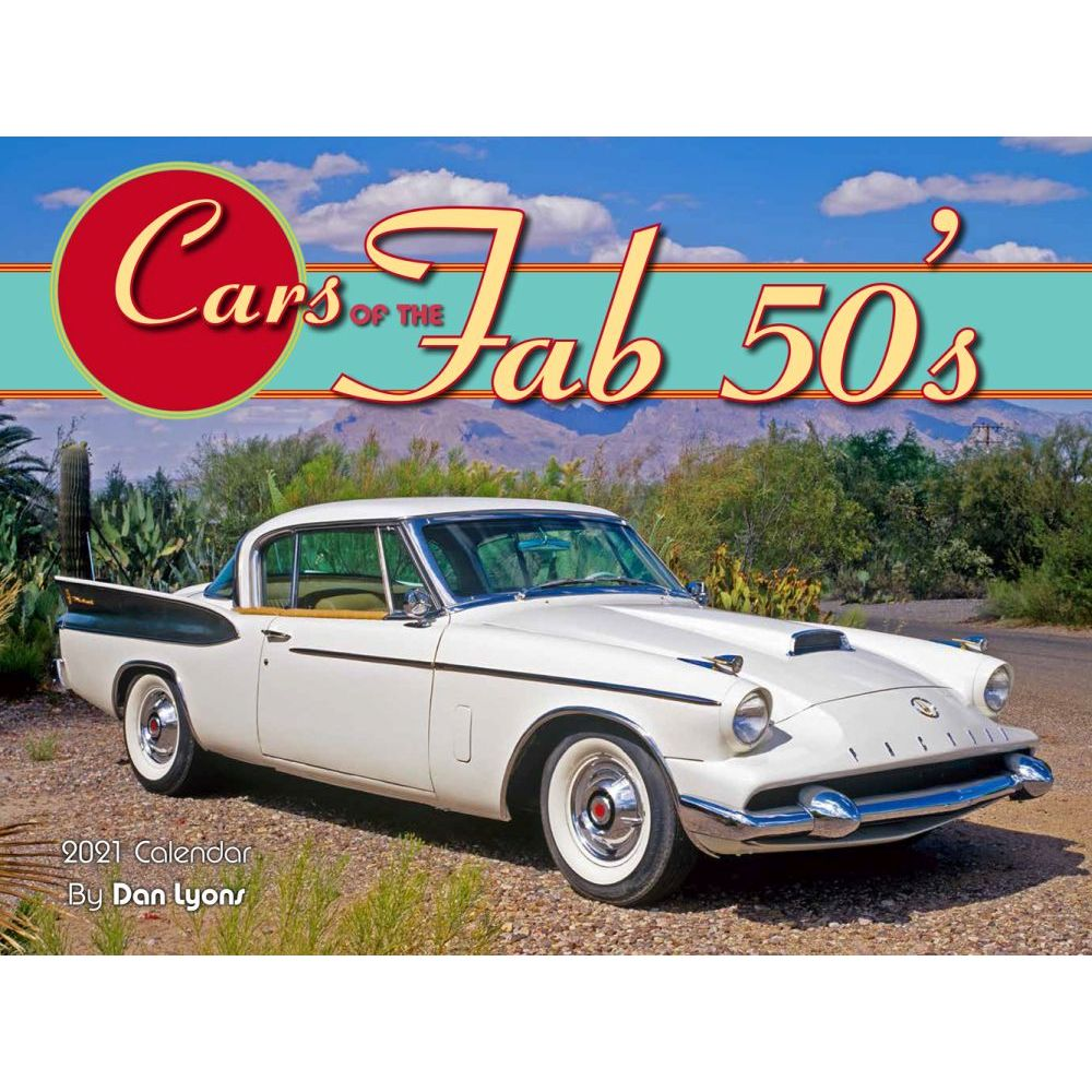 2021 Cars of the Fab 50s Wall Calendar