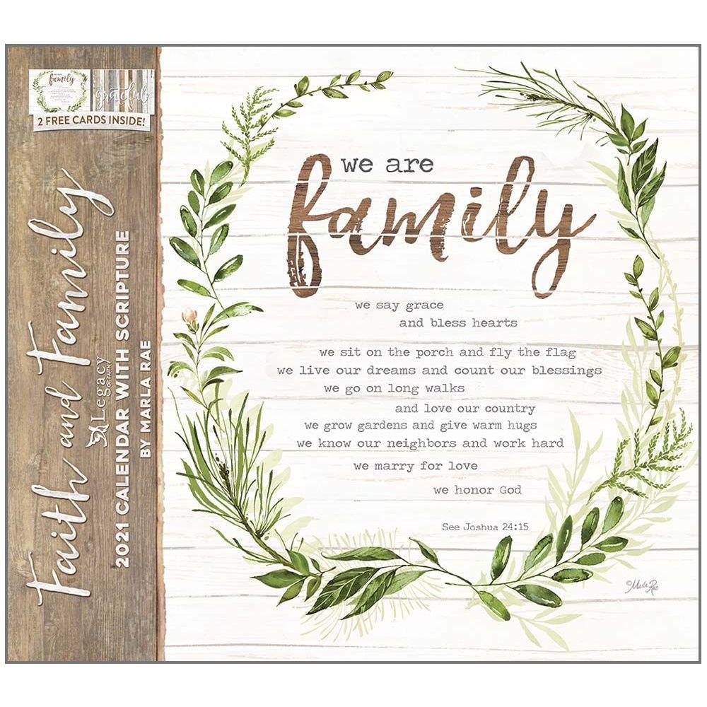 Faith and Family Wall Calendar - Calendars.com