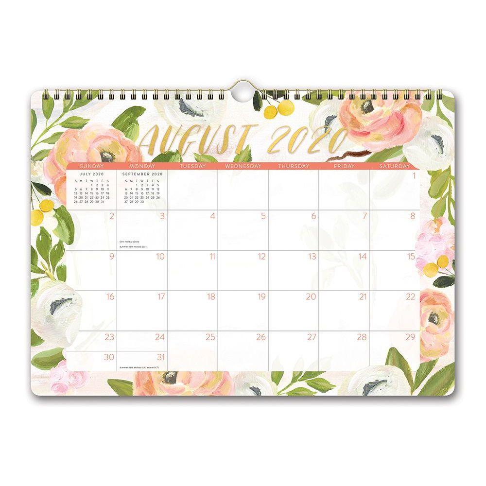 2021 Bella Flora Spiral Deluxe Wall Calendar