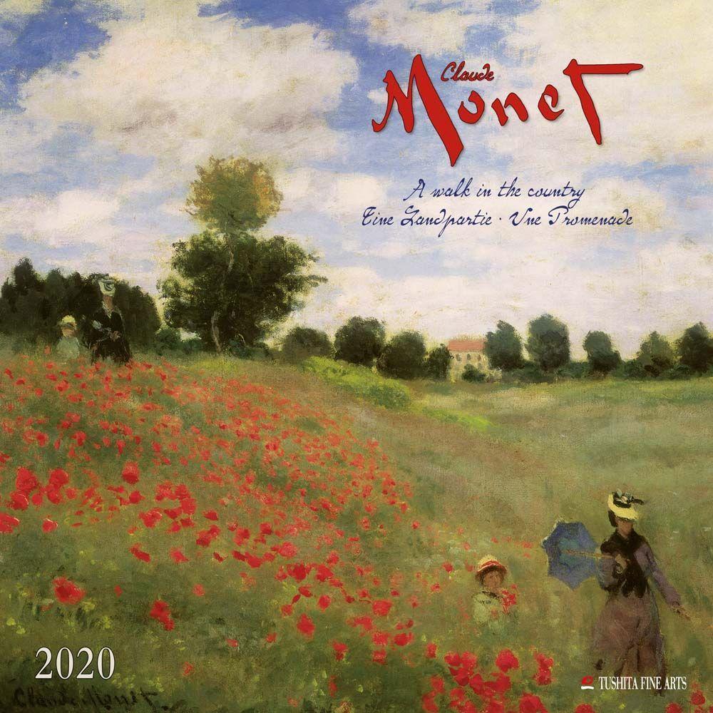 Claude Monet A Walk in the Country 2021 Wall Calendar