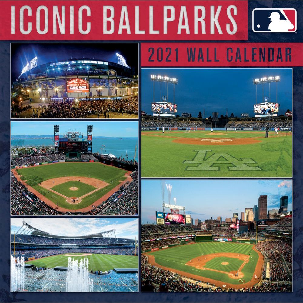 2021 MLB Icon Ballparks Wall Calendar