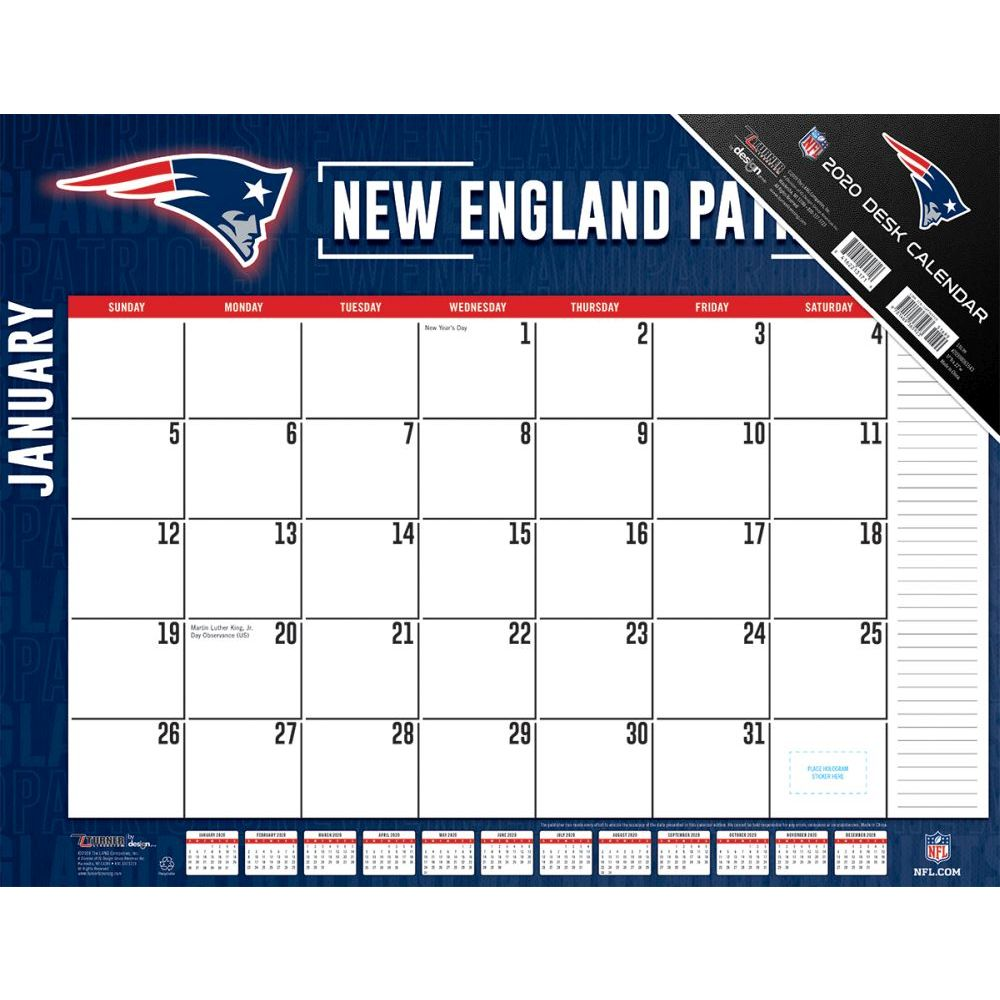 New England Patriots 2021 Desk Pad