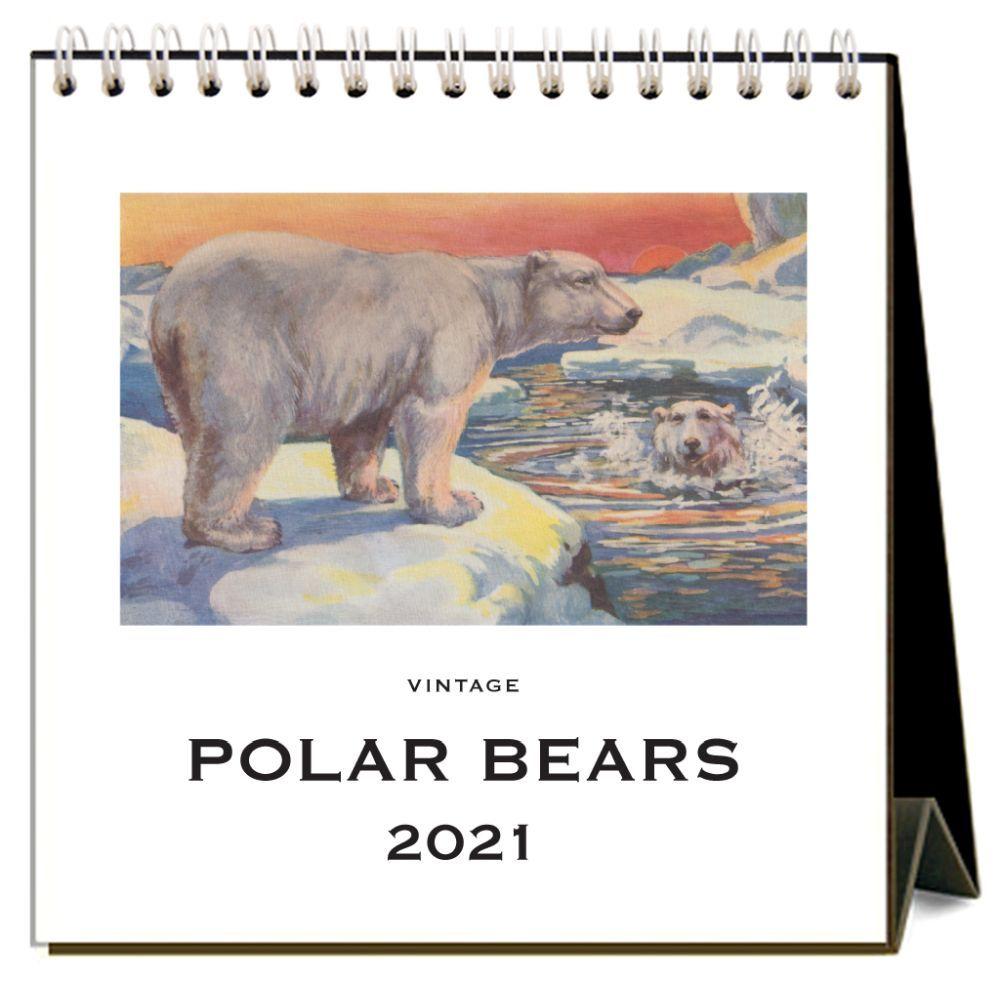 2021 Polar Bears Nostalgic Easel Calendar