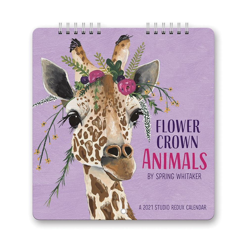 2021 Flower Crown Animals Studio Redux Mini Wall Calendar