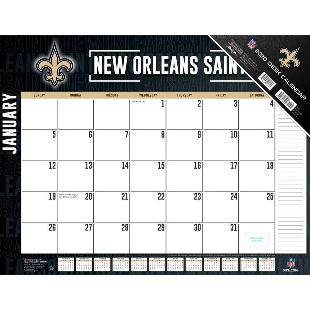New Orleans Saints 2021 Desk Pad