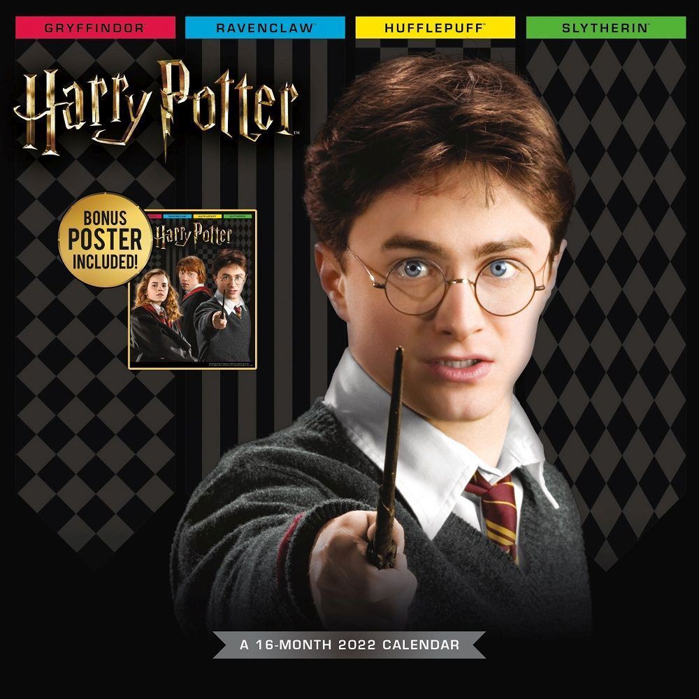 Harry Potter Exclusive 2022 Wall Calendar with Collectors Print