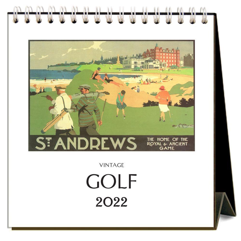 Golf 2022 Desk Calendar