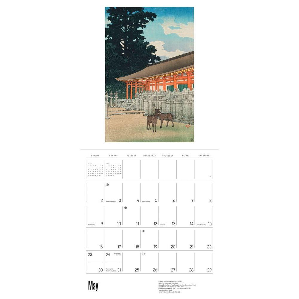 Kawase Hasui Wall Calendar - Calendars.com