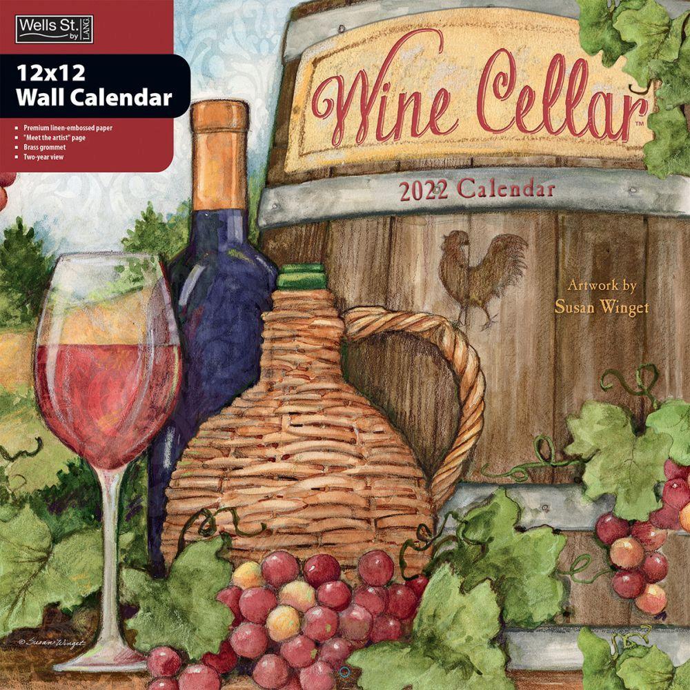 Susan Winget Wine Cellar 2022 Wall Calendar