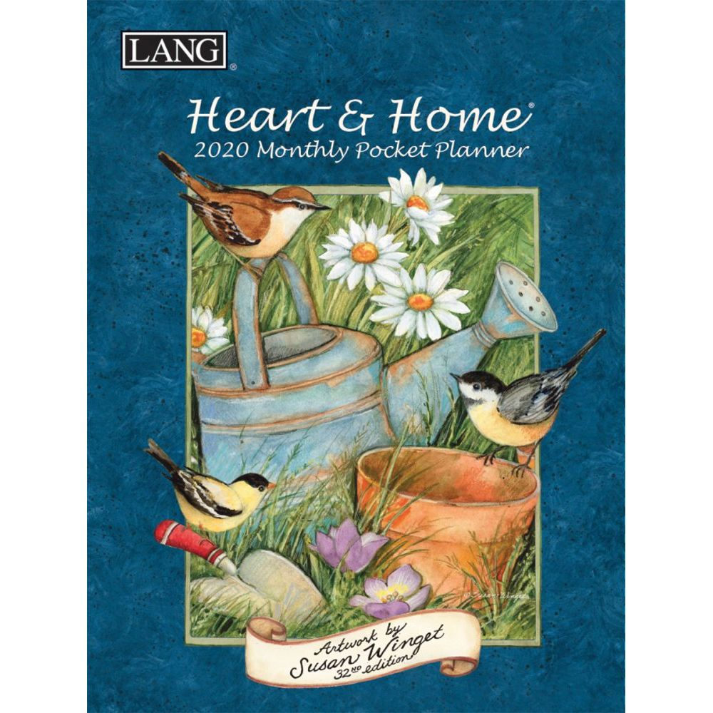 Susan Winget Heart and Home 2021 Monthly Planner with Pocket